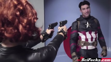 Captain America And Black Widow Have A Fuck Session